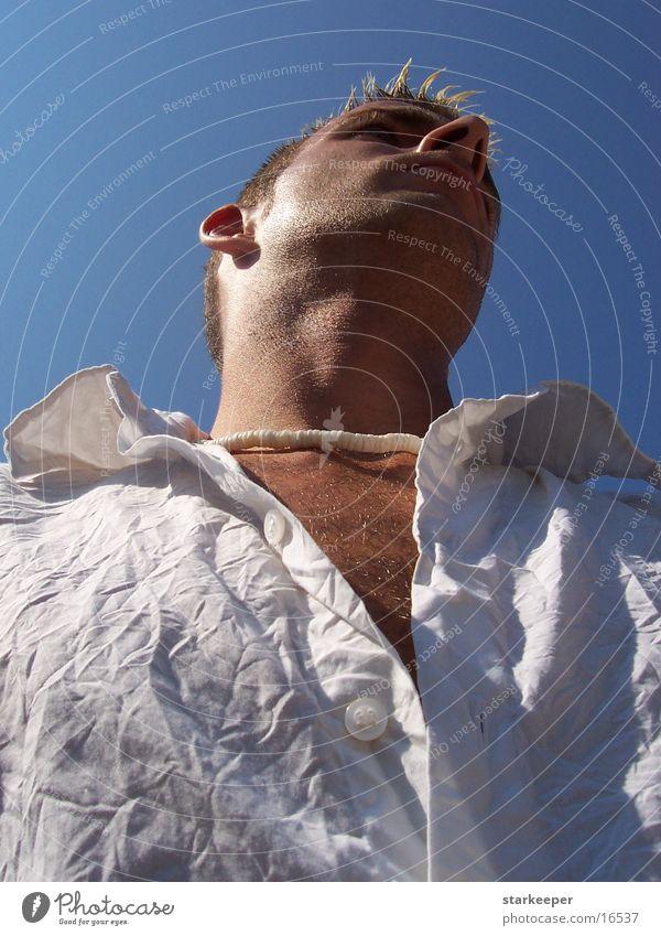 in the heat Physics Man Summer Sun Warmth