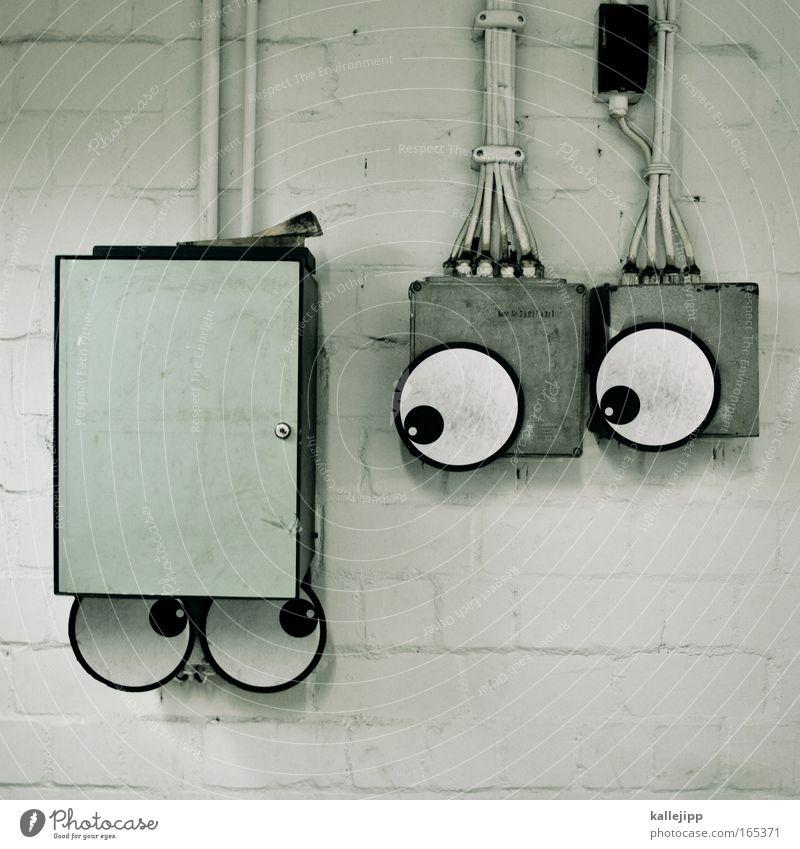 Joy Eyes Love Graffiti To talk Fear Glittering Electricity Sweet Cable Technology Street art Sculpture Comic Seeking help Responsibility