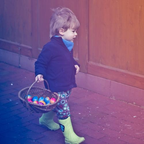 egg hunt Human being Masculine Child Toddler Boy (child) Infancy 1 1 - 3 years Rubber boots To hold on Authentic Happiness Happy Joy Contentment Success