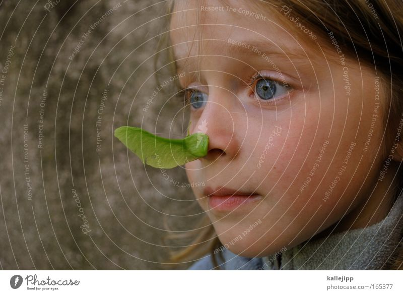 Human being Child Nature Plant Green Leaf Animal Girl Face Environment Life Natural Playing Fresh Infancy Joie de vivre (Vitality)