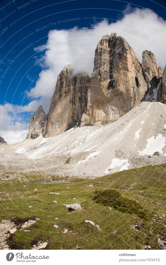 Sky Nature Summer Landscape Clouds Mountain Movement Rock Horizon Earth Italy Beautiful weather Elements Tower Peak Hill