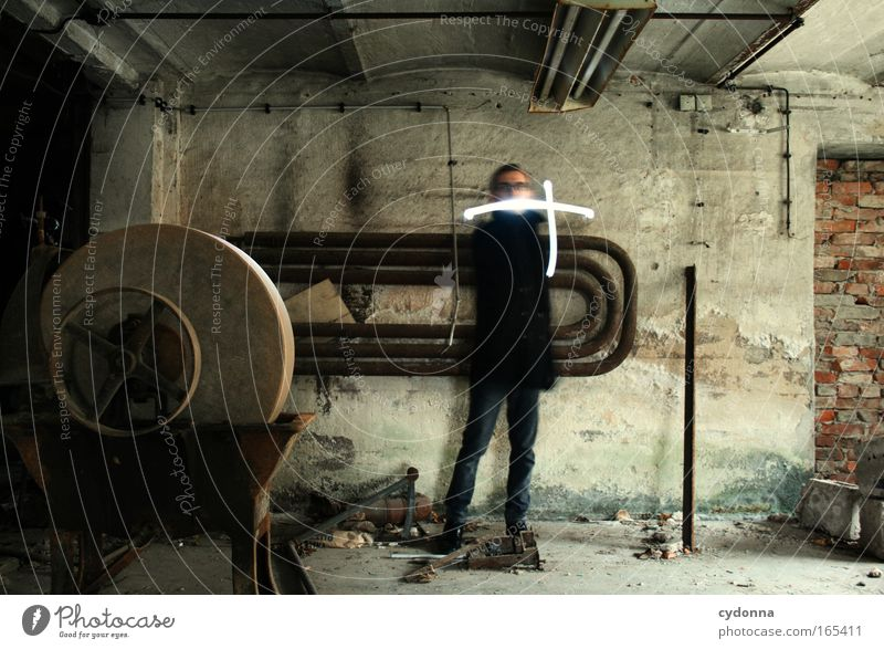 Human being Man Adults Far-off places Death Life Wall (building) Emotions Movement Wall (barrier) Sadness Time Energy industry Masculine Esthetic Planning