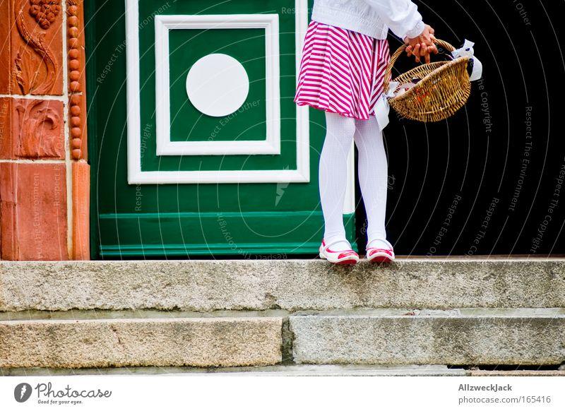 Human being Child Feminine Emotions Feet Legs Wait Wedding Stairs Romance Infancy Pride Basket Patient Innocent
