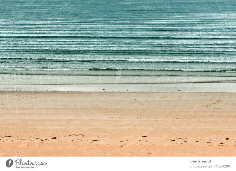 course of the beach Waves Coast North Sea Ocean Beach Sandy beach Scotland Friendliness Maritime Happy Contentment Joie de vivre (Vitality) Romance Wanderlust