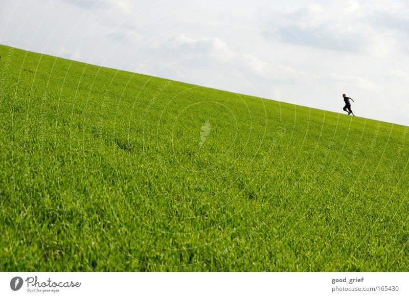 Human being Sky Nature Man Summer Sun Clouds Adults Landscape Environment Meadow Grass Spring Movement Park Leisure and hobbies