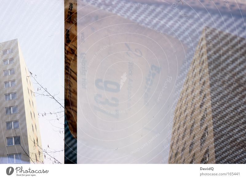 City House (Residential Structure) Window Building High-rise Cloth Manmade structures Suitcase Double exposure Tower block