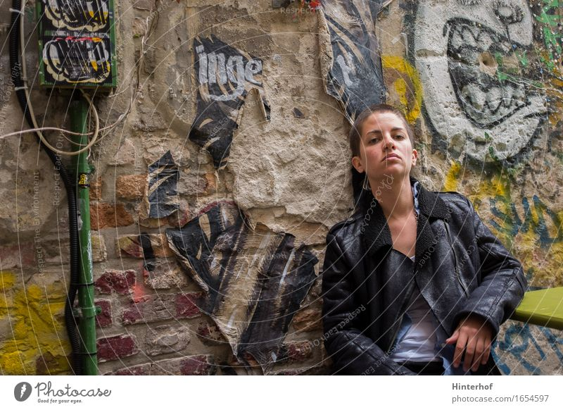 Human being Woman Youth (Young adults) City 18 - 30 years Adults Wall (building) Graffiti Feminine Berlin Style Lifestyle Building Wall (barrier) Art Wild