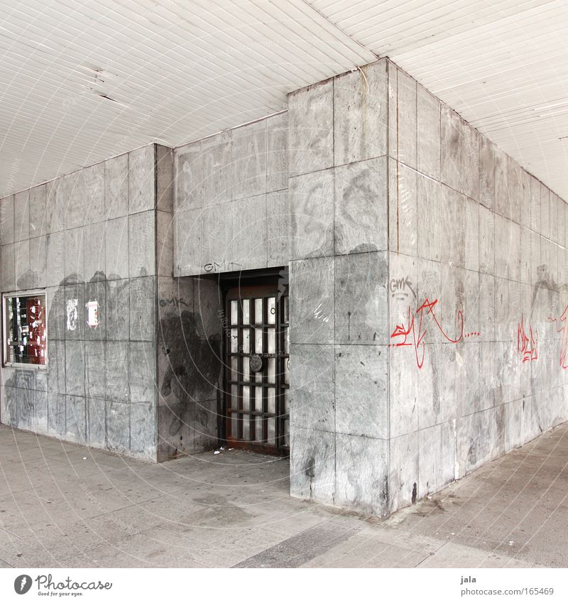 City Black House (Residential Structure) Wall (building) Gray Building Graffiti Bright Architecture Door Concrete Facade Corner Manmade structures Chemnitz