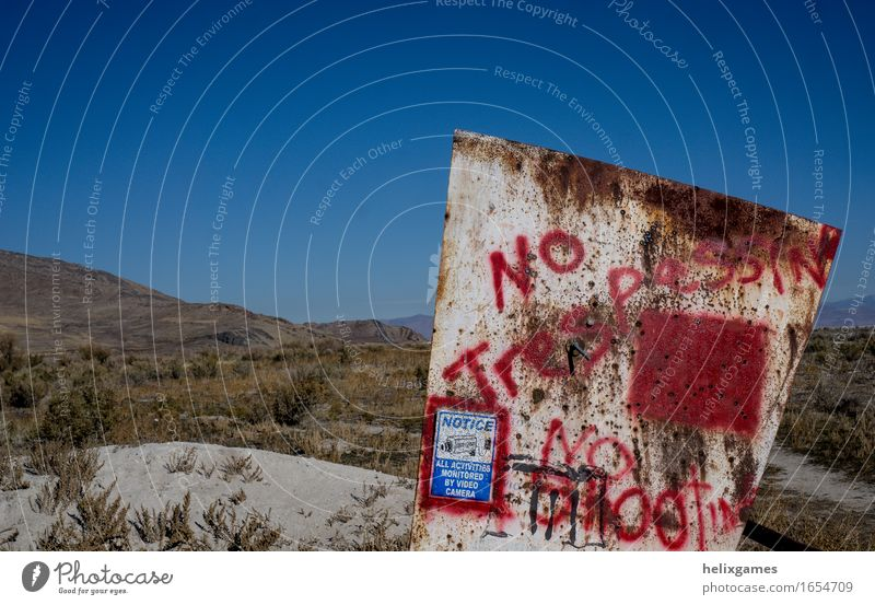 No Trespassing Sign Signs and labeling Communicate Signage Kitsch Desert Advice Odds and ends