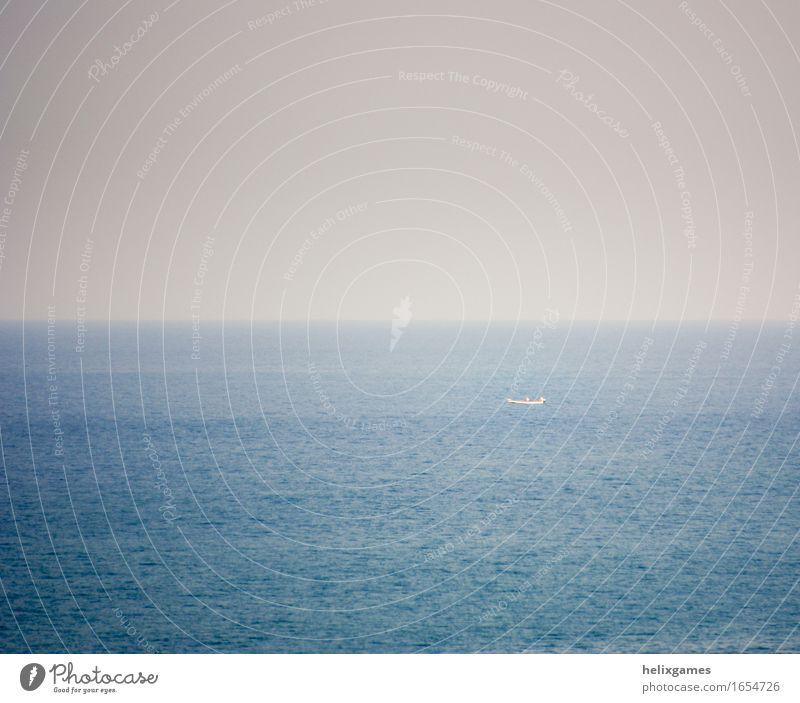 fishing boat Ocean Waves Sky Coast Indian Ocean Arabian Sea Navigation Boating trip Fishing boat Watercraft Self-confident Patient Loneliness emptiness empty