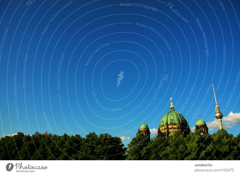 pleasure garden Berlin Capital city Pleasure garden Middle Downtown city east Dome Berlin Cathedral Domed roof Classicism Berlin TV Tower Television tower