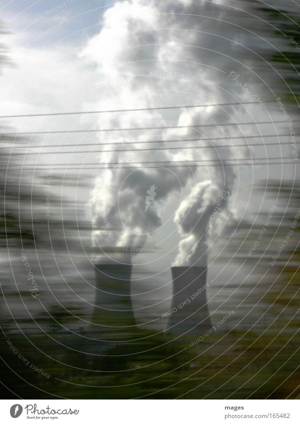 Sky Clouds Gray Fear Large Energy Force Energy industry Electricity Threat Environmental protection Environmental pollution Arrogant Steam
