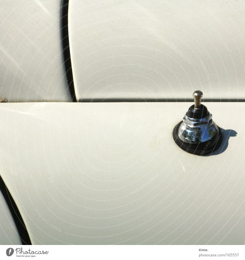 [HH09.1] - Starship Orion Sun Antenna Car Vintage car Varnish White Chrome Stopper pinökel fissure Door Closed Motor vehicle detail Rubber Bracket