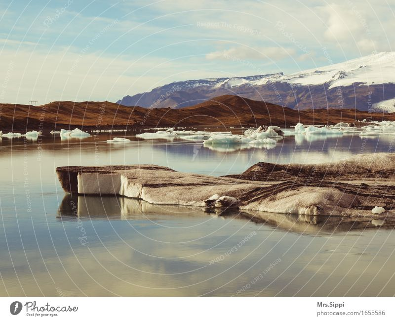 Incredible Iceland Vacation & Travel Trip Landscape Elements Water Sky Autumn Climate Weather Frost Lake Glacier Ocean Jökulsárlón Deserted Happy Serene Calm