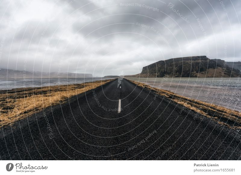 Highway to Nowhere Life Vacation & Travel Adventure Island Environment Nature Landscape Earth Sky Clouds Horizon Climate Weather Bad weather Fog Rain Mountain
