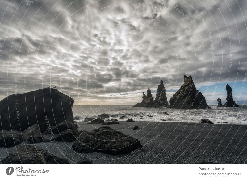 Reynisfjara Sky Nature Vacation & Travel Beautiful Ocean Landscape Clouds Beach Mountain Environment Life Coast Earth Sand Rock Weather