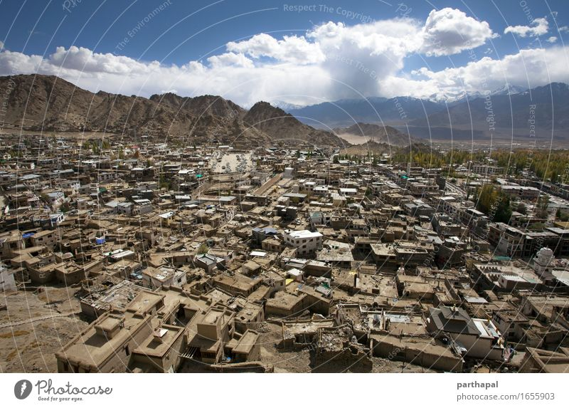 Leh City from Top Calm House (Residential Structure) Architecture Building Adventure Asia Skyline Capital city India Peaceful