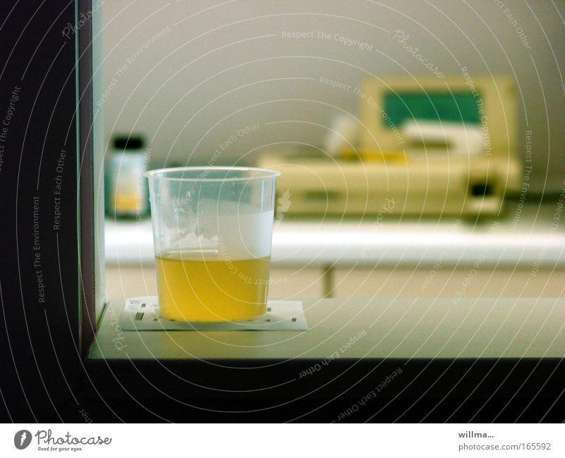 Yellow Healthy Health care Bubble Pregnant Hospital Mug Laboratory Investigate Urine Excretion Diagnosis Kidney Laboratory equipment