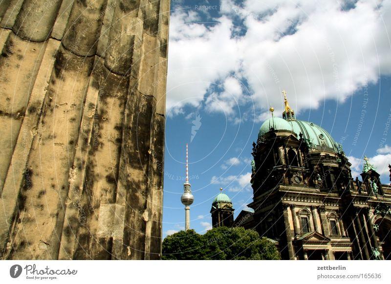 Sky City Summer Clouds Berlin Religion and faith Architecture Church Culture Downtown Column Museum Dome Berlin TV Tower Capital city Alexanderplatz