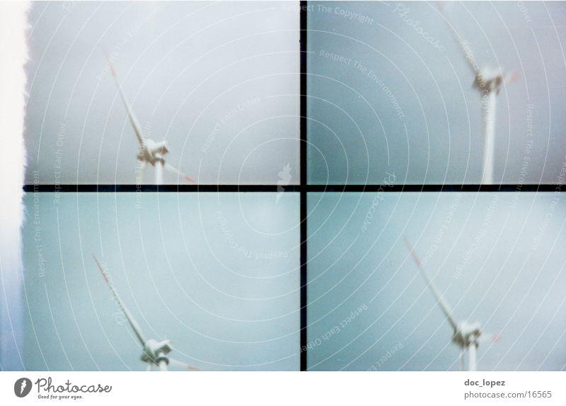 Sky Landscape Wind energy plant Analog Division Scan Lomography