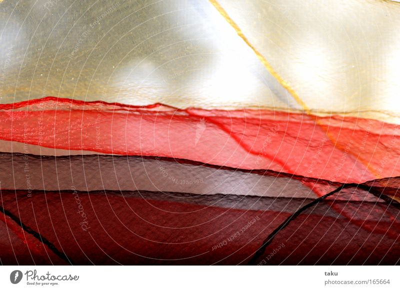 Sun Red Black Yellow Window Cloth Orange Wind Delicate Wrinkles Transparent Fine Rag