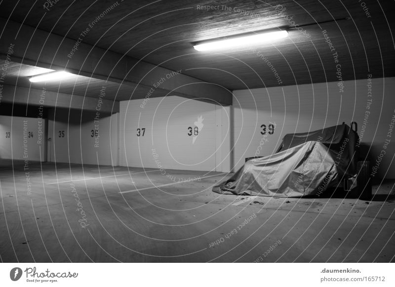 Loneliness Lamp Signs and labeling Concrete Digits and numbers Stripe Wrinkles Hide Parking lot Garage Forget Covers (Construction) Underground garage
