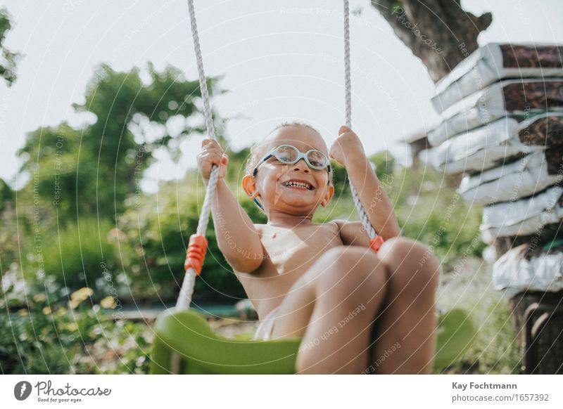 Human being Summer Joy Life Funny Movement Boy (child) Playing Laughter Happy Garden Freedom Wild Contentment Fresh Illuminate