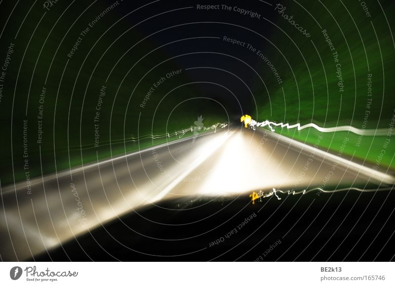 300 light miles Colour photo Subdued colour Exterior shot Pattern Structures and shapes Deserted Night Long exposure Motion blur Long shot Trip Far-off places