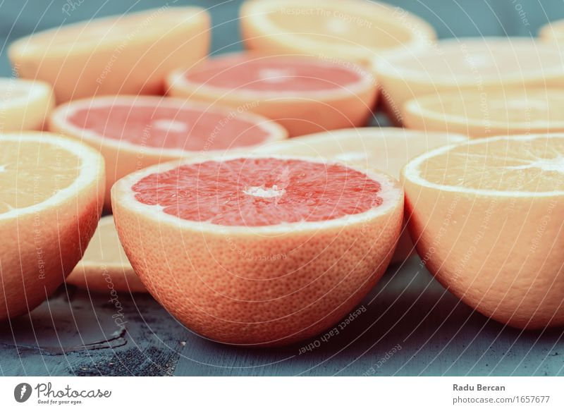 Orange, Grapefruit And Lemon Citrus Fruit Slices Nature Blue Healthy Eating Red Yellow Life Food Health care Fresh Nutrition Sweet