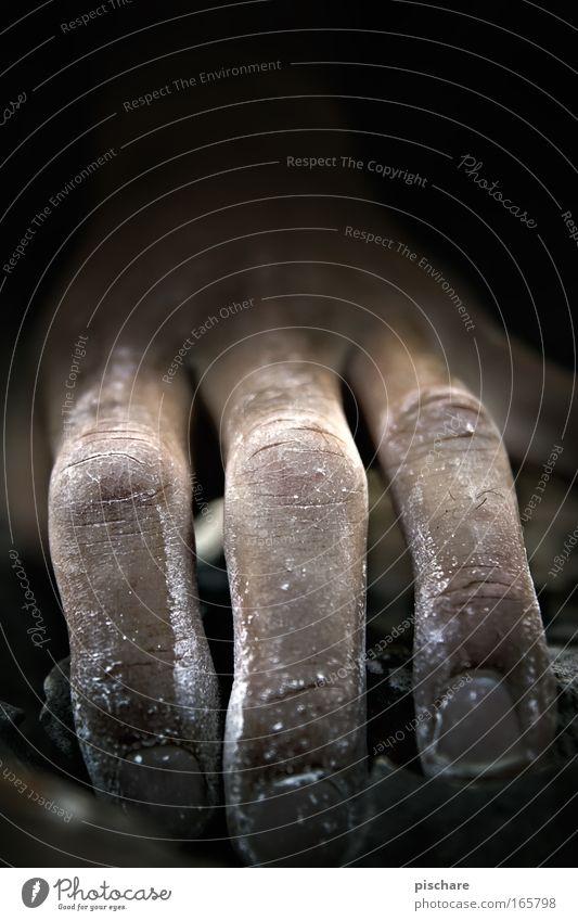 Human being Hand Black Dark Mountain Dream Power Fear Rock Masculine Exceptional Adventure Fingers Crazy Threat Climbing