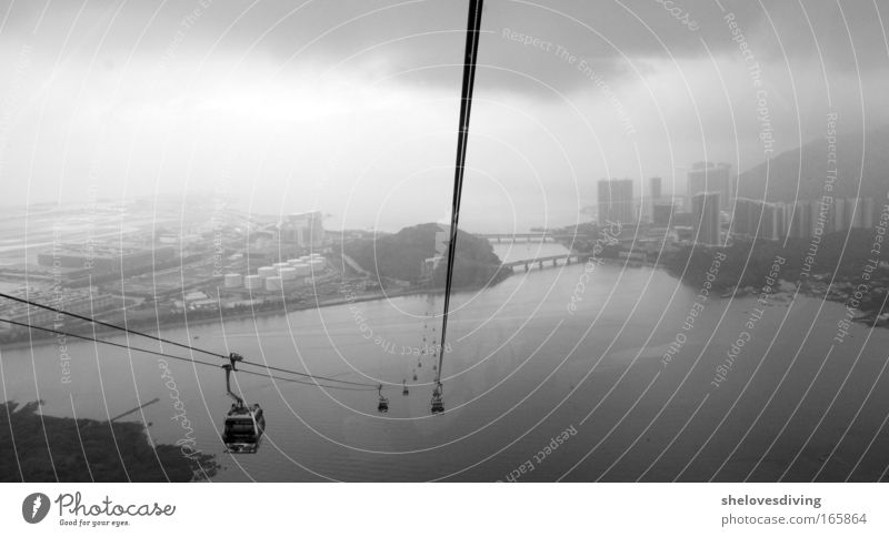 Afraid of heights? Black & white photo Exterior shot Aerial photograph Deserted Copy Space bottom Day Shadow Bird's-eye view Panorama (View) Freedom Sightseeing