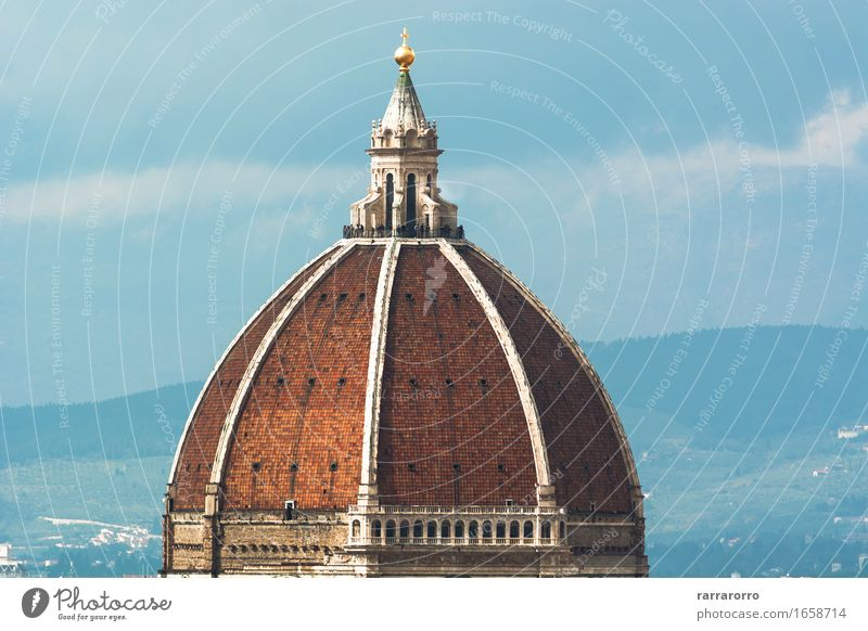 Brunelleschi Dome in Florence Sky Vacation & Travel City Old Blue Beautiful Architecture Building Art Design Tourism Europe Vantage point Church Places Italy