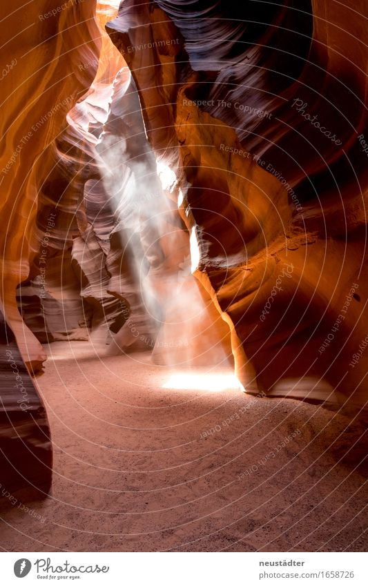 Antelope Canyon VI Nature Earth Sand Sun Sunlight Stone Esthetic Yellow Orange Loneliness Adventure Light (Natural Phenomenon) Flare Visual spectacle