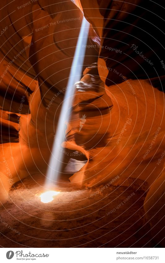 Antelope Canyon III Nature Earth Sand Sun Sunlight Stone Esthetic Beautiful Brown Yellow Orange Adventure Loneliness Uniqueness Discover