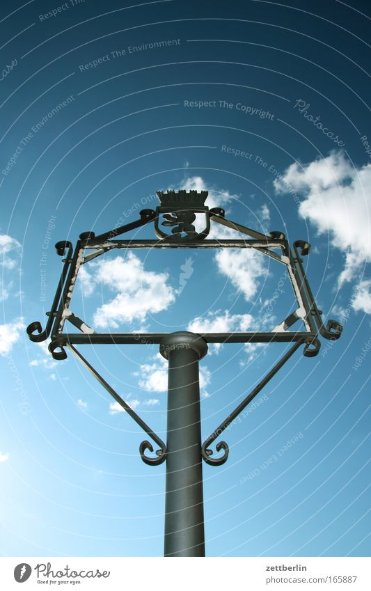 Sky Clouds Berlin Signs and labeling Communicate Information Image Past Historic Frame Picture frame Communication History book Copy Space Art Curlicue