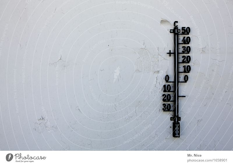 Weather Weather Weather Thermometer Hot Cold Warmth White Vacation & Travel Wall (barrier) Wall (building) Digits and numbers 10 20 30 40 50 Summer Winter