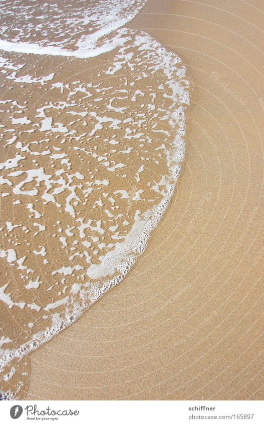 eggbeater Colour photo Exterior shot Sunlight Water Waves Coast Lakeside River bank Beach Ocean Island Sand Blonde Fluid Tide Foam White crest Day