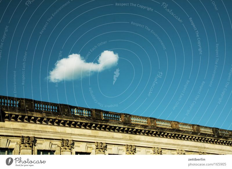 Cloud over Pergamon Sky Clouds Innocent Blue sky Sky blue Summer Weather Meteorology construction Building Manmade structures Classicism Berlin Museum Spree