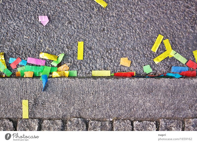 when all is said and done Lifestyle Leisure and hobbies Multicoloured Joy End Party Colour Street Curbside Trash Remainder Confetti Tinsel after Sadness