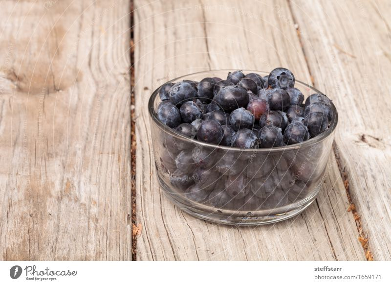 Clear glass bowl of ripe blueberries Blue Plant Beautiful Life Eating Lifestyle Healthy Wood Food Health care Fruit Nutrition Glass Wellness Organic produce
