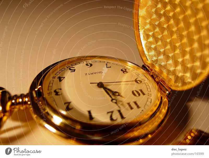 Moody Gold Time Clock Digits and numbers Transience Things Chain Nostalgia Partially visible Symbols and metaphors Flap Second hand Fob watch