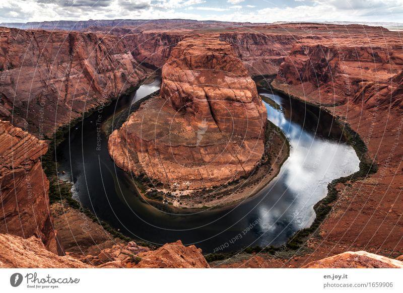 Water beats stone Vacation & Travel Environment Nature Landscape Horizon Climate Climate change Rock Canyon Glen Canyon Grand Canyon River Colorado River Desert