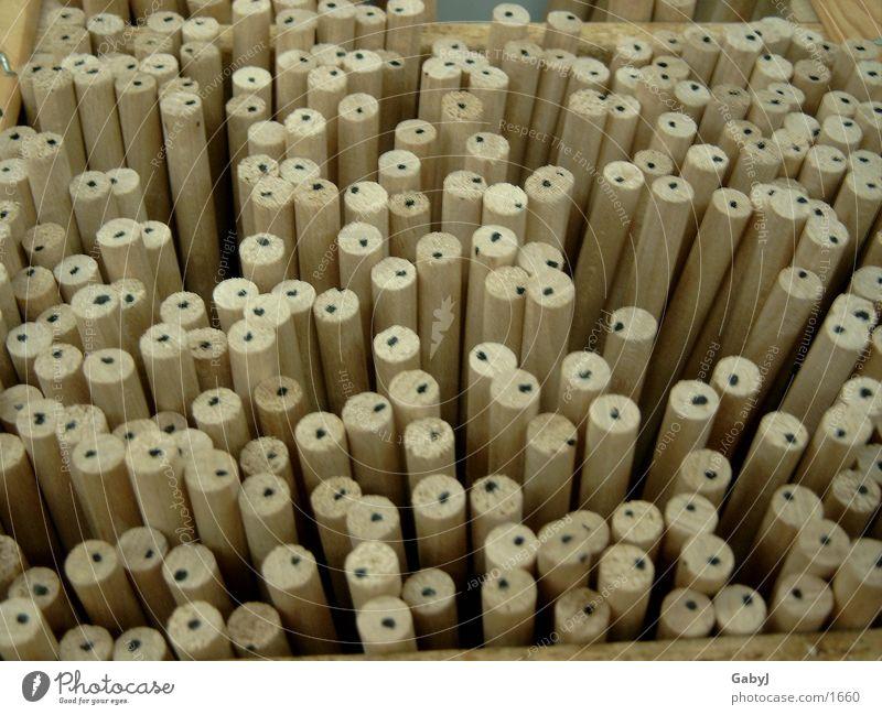 dot_dots_dots Wood Wooden pole Colour Guide Craft (trade) Point diversified