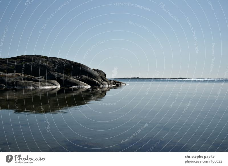 sandhamn Colour photo Exterior shot Deserted Copy Space right Copy Space top Copy Space bottom Day Reflection Central perspective Long shot Vacation & Travel