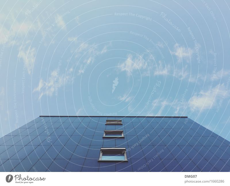 Sky Blue Summer Town Clouds House (Residential Structure) Window Architecture Environment Wall (building) Emotions Autumn Spring Building Wall (barrier) Facade