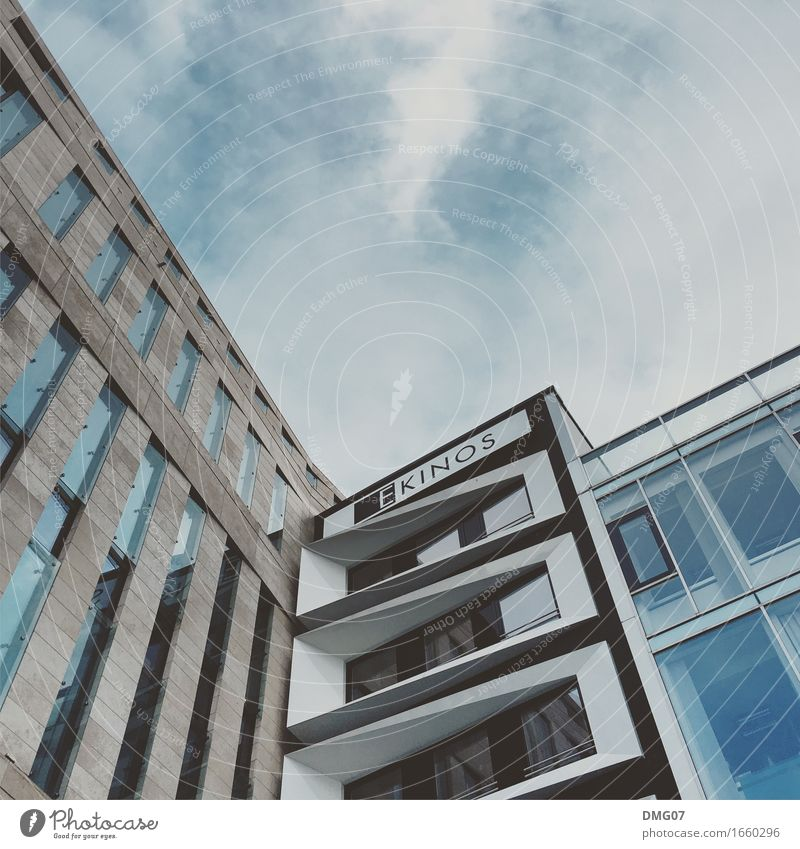 Up in the sky Lifestyle Environment Sky Clouds Spring Summer Autumn Climate Frankfurt Town Capital city Downtown Outskirts Old town Pedestrian precinct Skyline