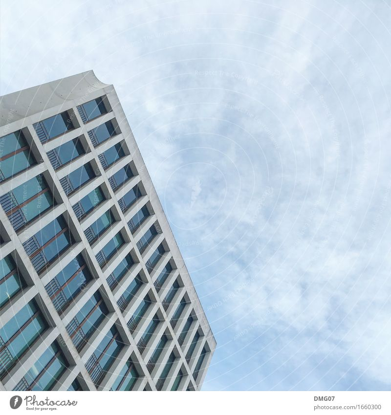 Sky Summer Town Clouds House (Residential Structure) Window Architecture Environment Emotions Autumn Spring Building Facade Weather Office High-rise