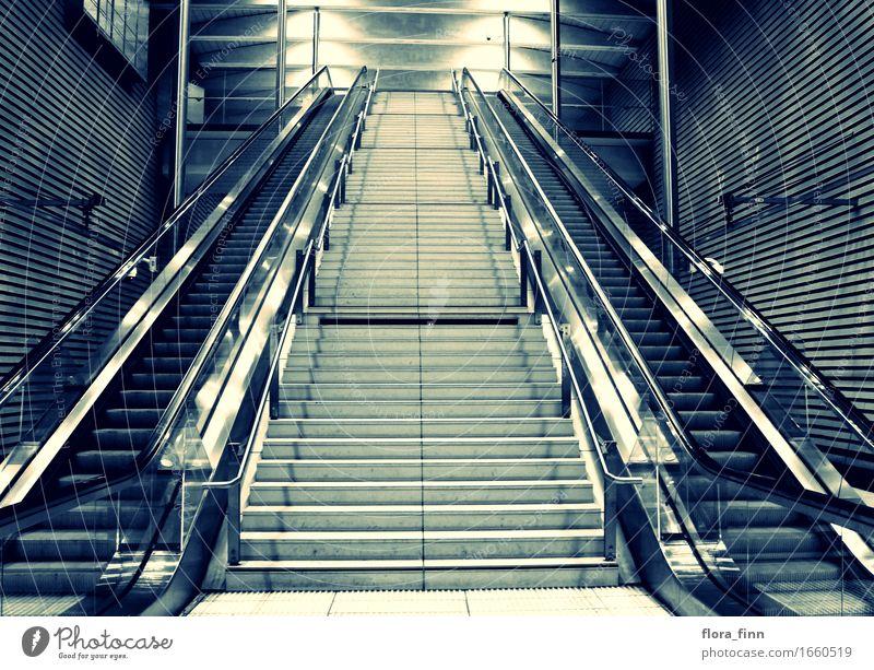 City Stairs Europe Logistics Town Saxony Train station Symmetry Escalator Station hall