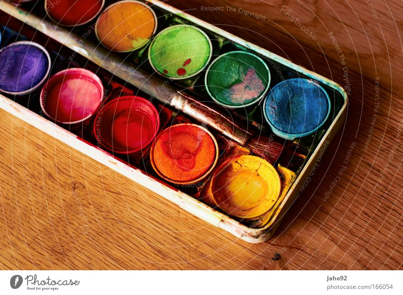 Water Green Blue Red Yellow Playing Brown Art Pink Violet Culture Sign Box Make Draw Painting and drawing (object)