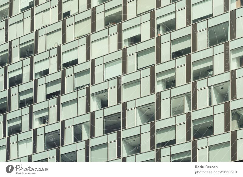 Business Building Windows Abstract Detail Architecture Town Downtown High-rise Manmade structures Facade Glass Blue Gray Office building Office window Modern
